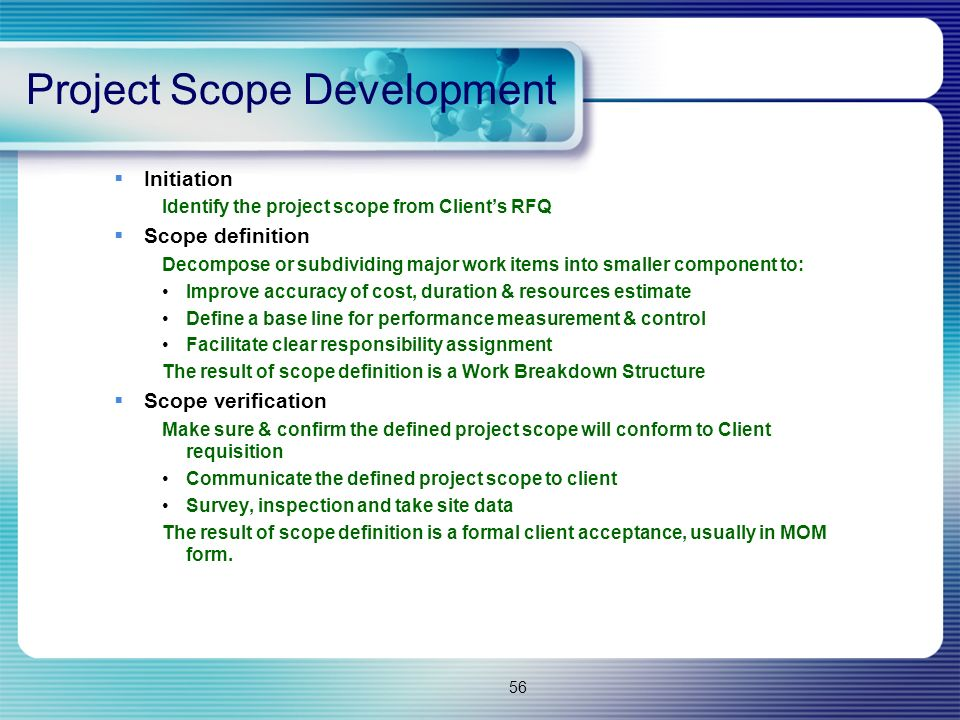 Project Scope Development