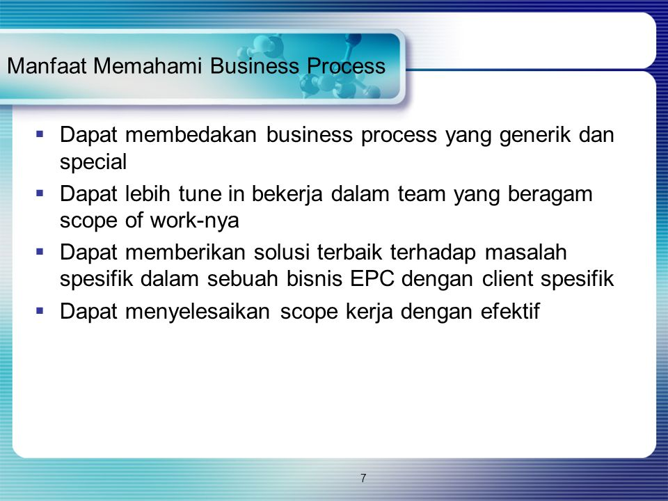 Manfaat Memahami Business Process