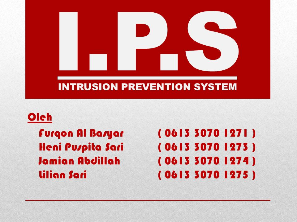 I.P.S Oleh Furqon Al Basyar ( 0613 3070 1271 )