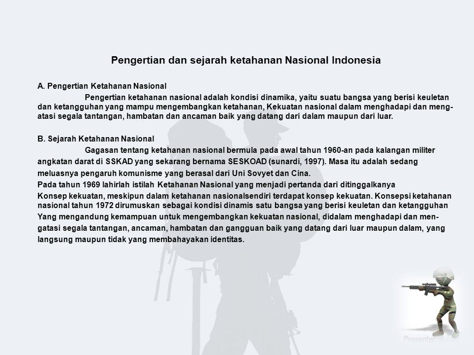 Pengertian dan sejarah ketahanan Nasional Indonesia