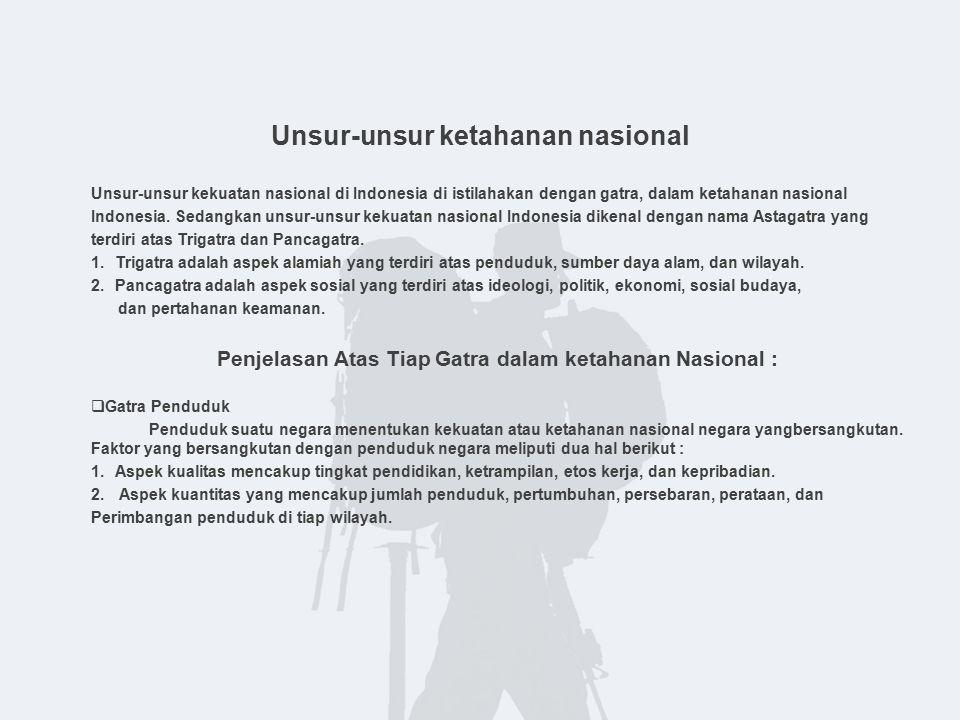 Unsur-unsur ketahanan nasional
