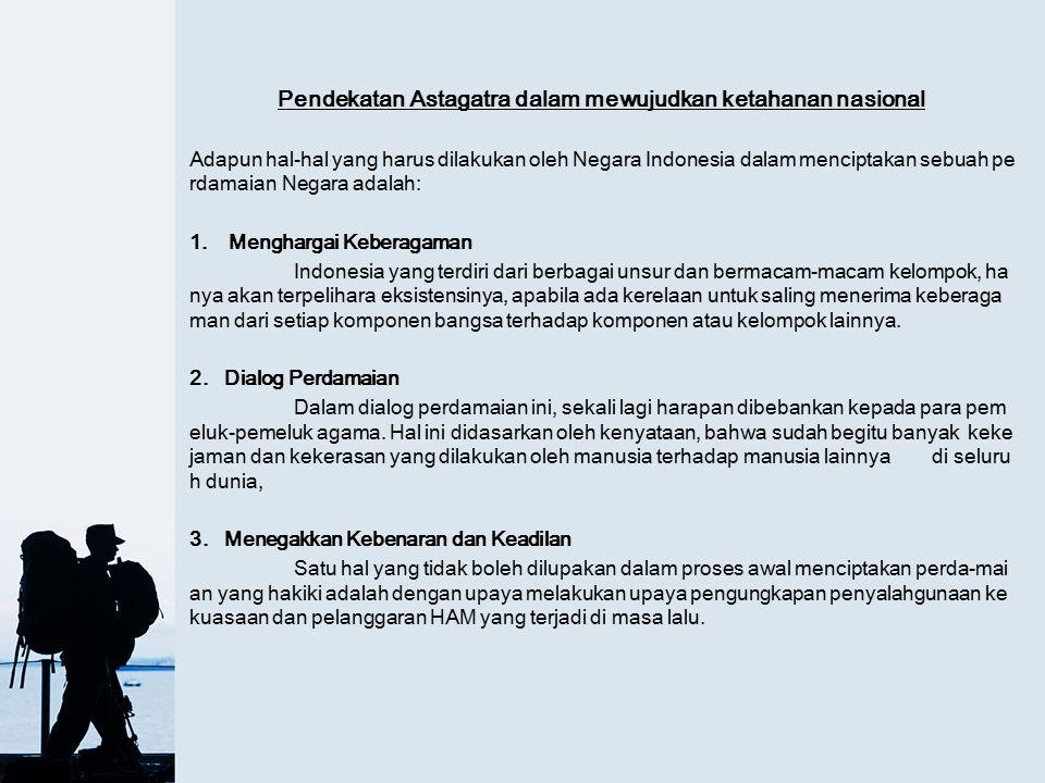 Pendekatan Astagatra dalam mewujudkan ketahanan nasional