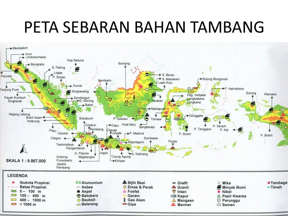 PETA SEBARAN BAHAN TAMBANG