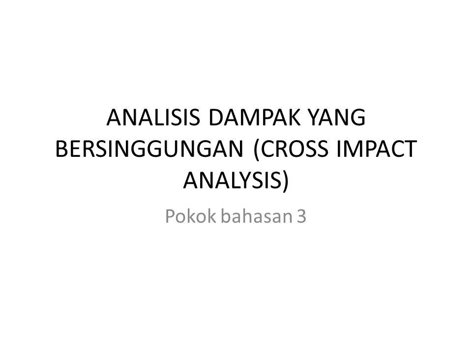 ANALISIS DAMPAK YANG BERSINGGUNGAN (CROSS IMPACT ANALYSIS)