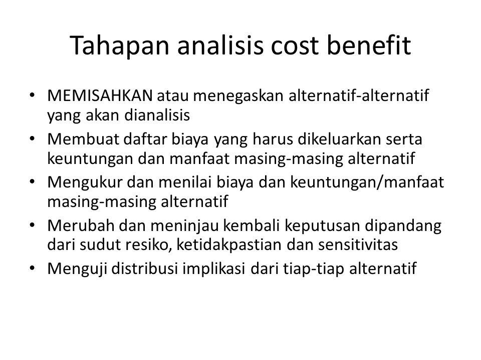 Tahapan analisis cost benefit
