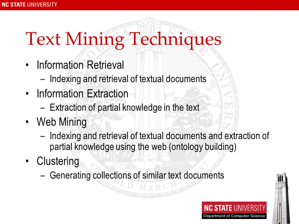 Text Mining Techniques
