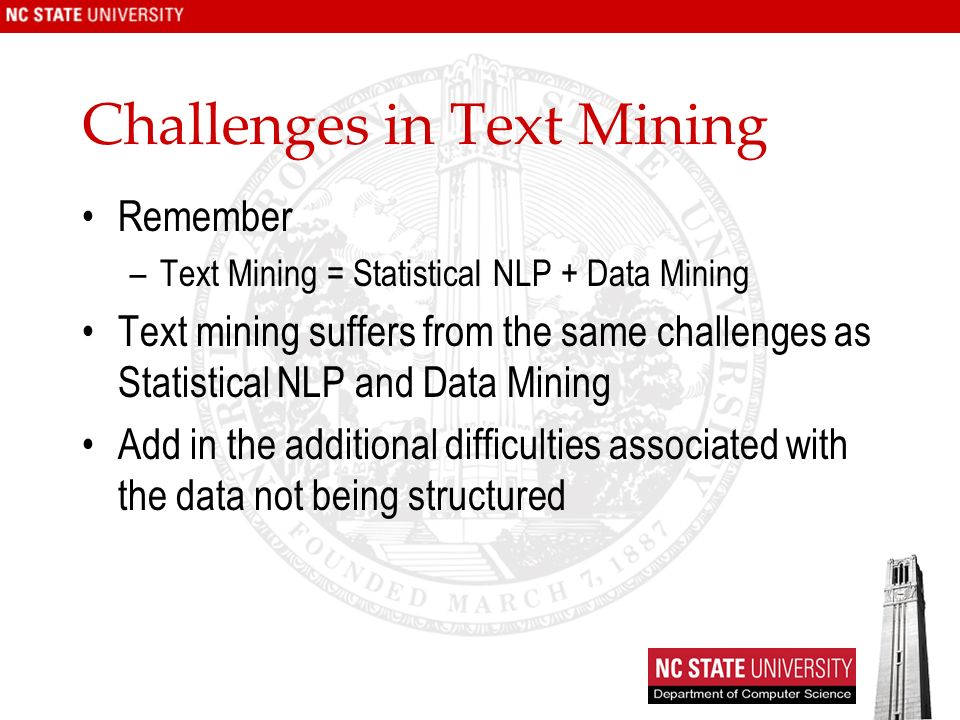 Challenges in Text Mining
