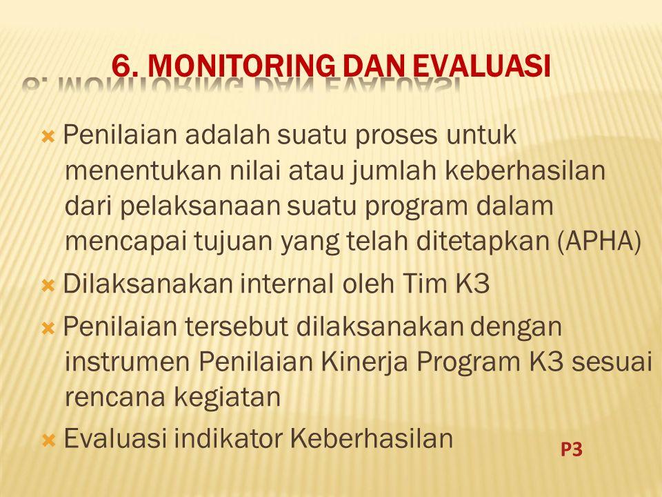 6. MONITORING DAN EVALUASI