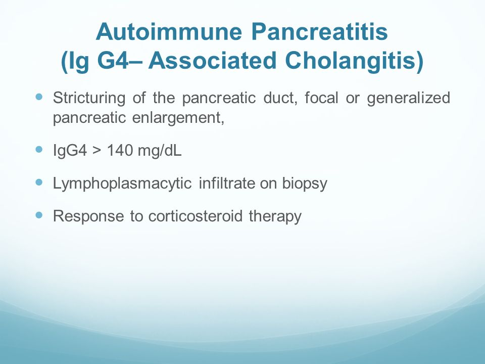 Autoimmune Pancreatitis (Ig G4– Associated Cholangitis)