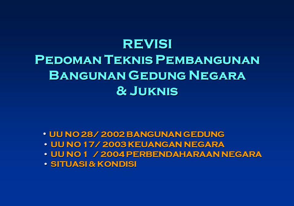 REVISI Pedoman Teknis Pembangunan Bangunan Gedung Negara & Juknis