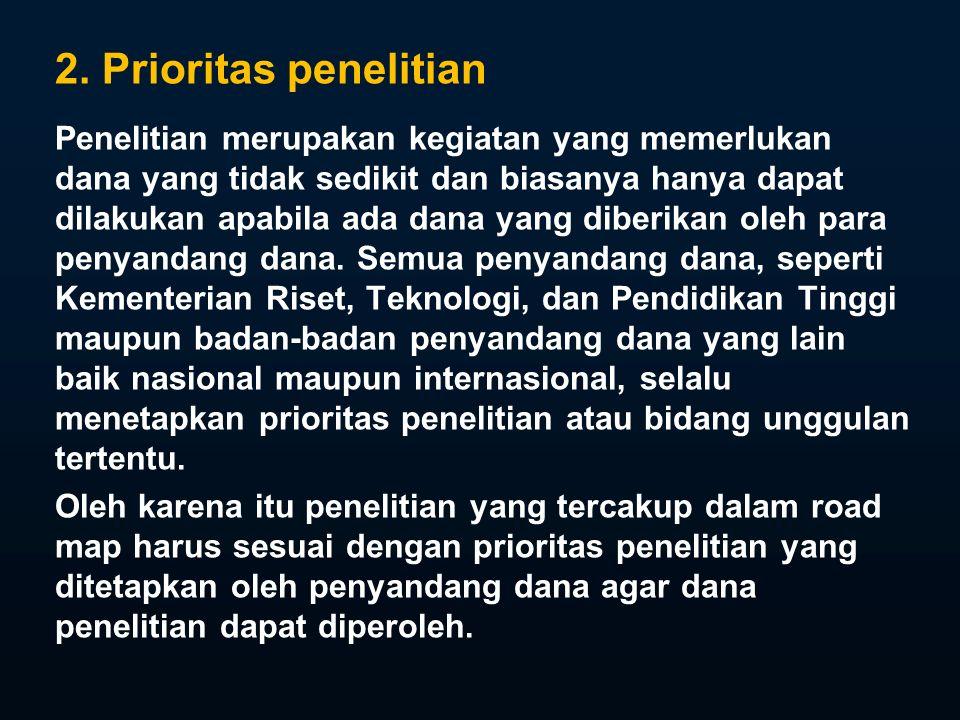 2. Prioritas penelitian