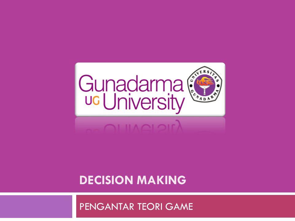 DECISION MAKING PENGANTAR TEORI GAME