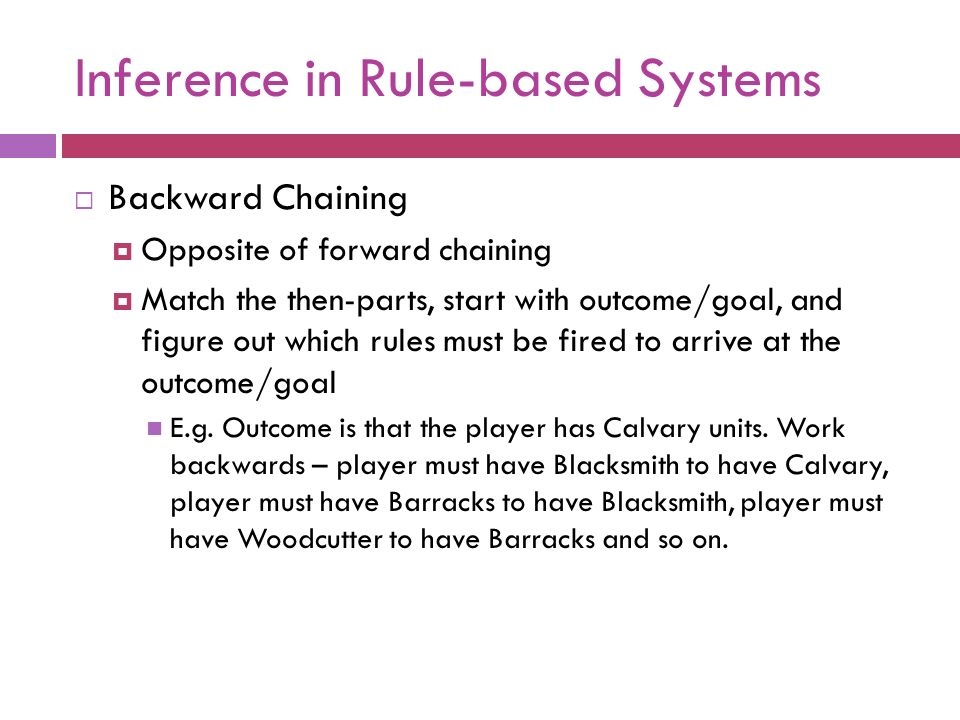 Inference in Rule-based Systems