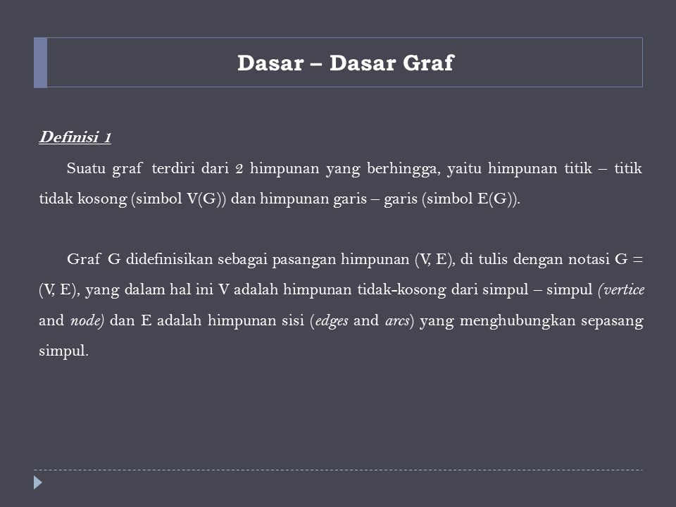 Dasar – Dasar Graf Definisi 1