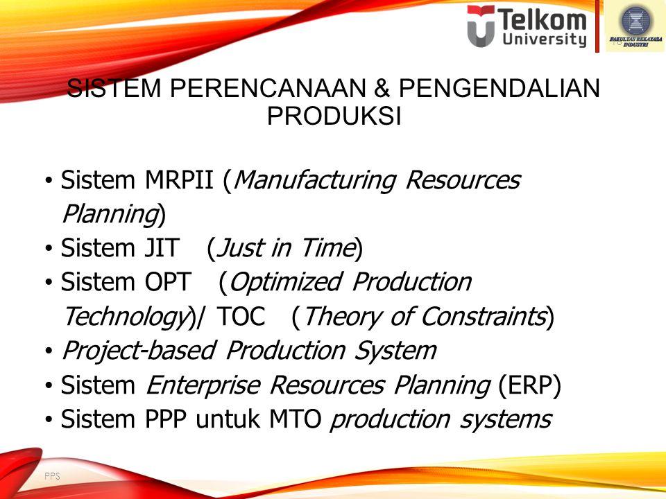 Sistem Perencanaan & Pengendalian Produksi