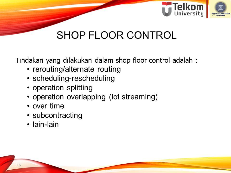 Shop Floor Control rerouting/alternate routing scheduling-rescheduling