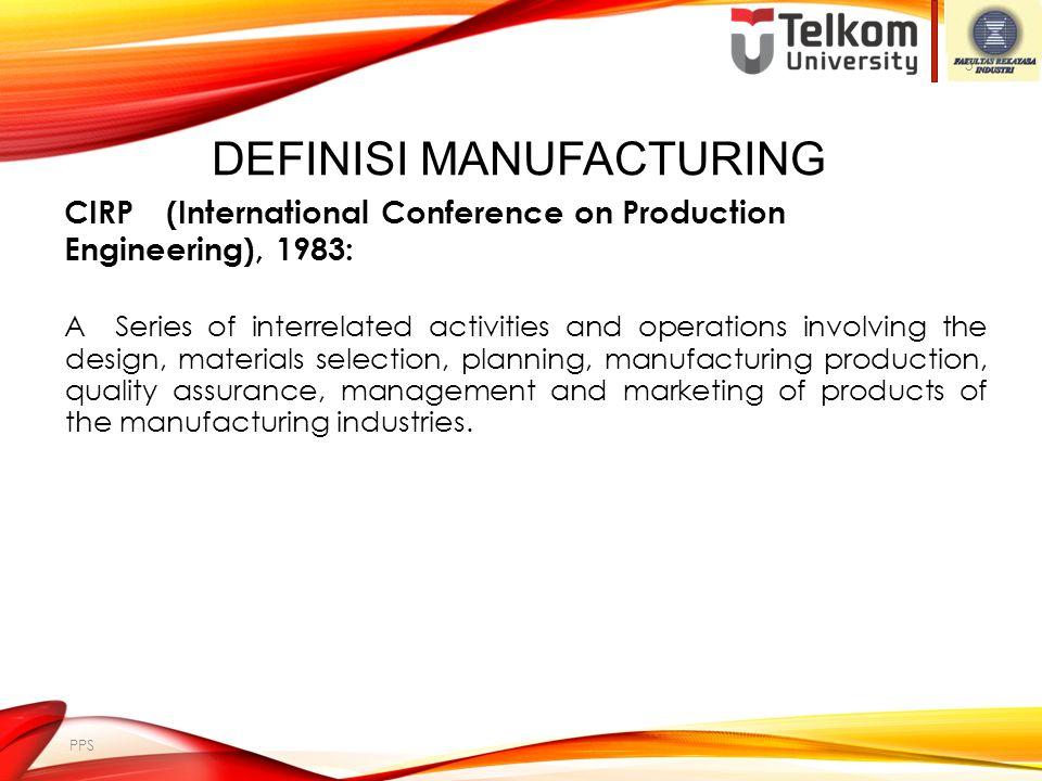 Definisi Manufacturing