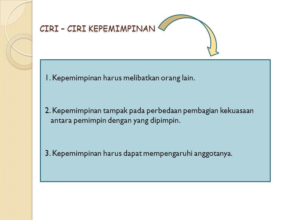 CIRI – CIRI KEPEMIMPINAN