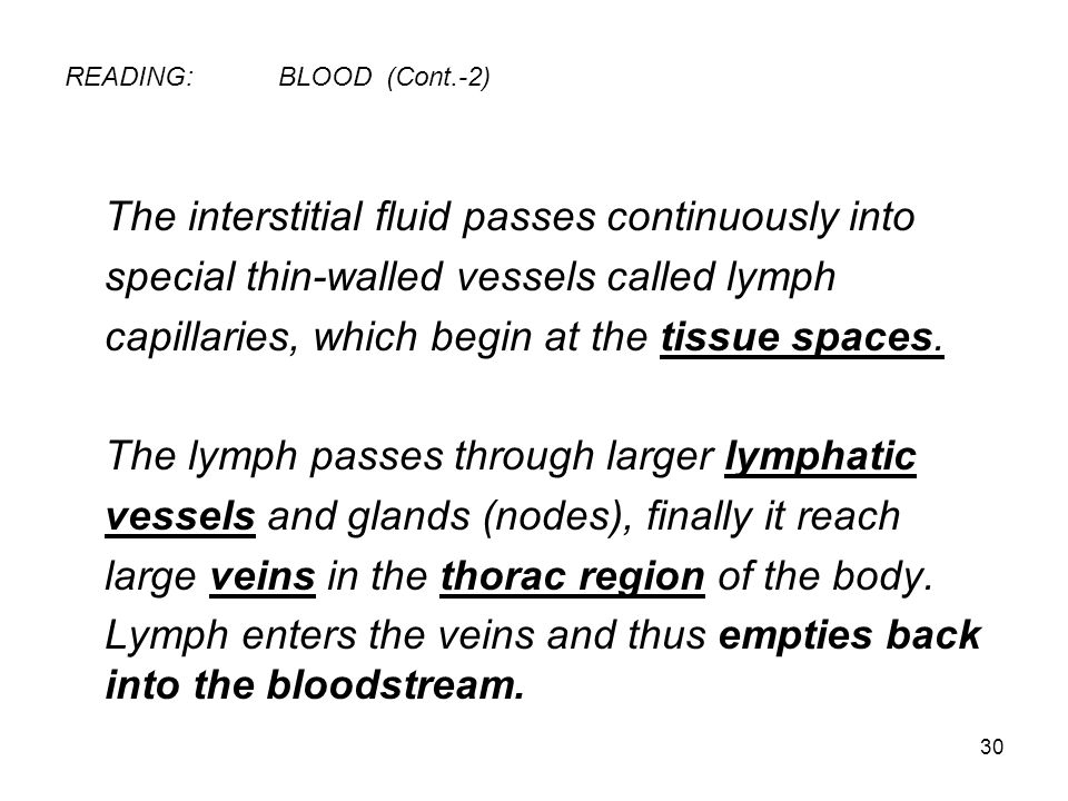 READING: BLOOD (Cont.-2)