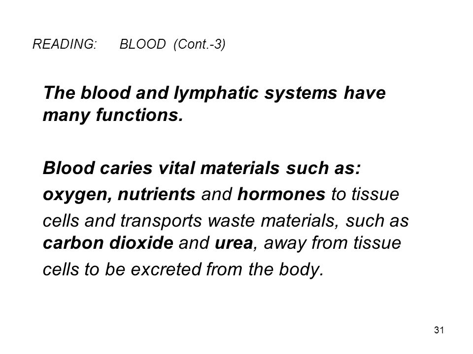 READING: BLOOD (Cont.-3)