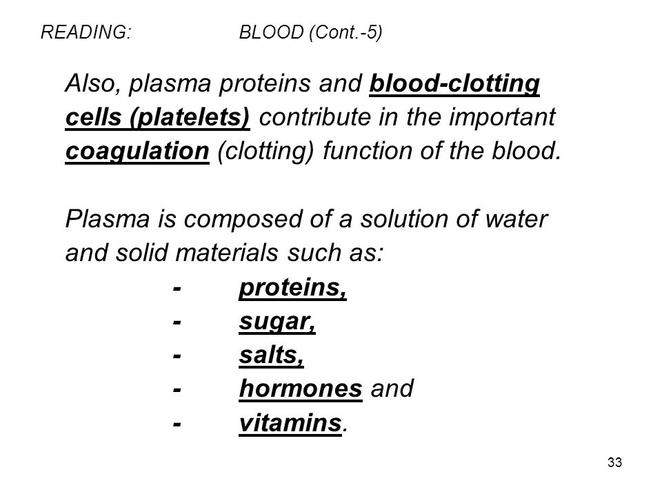 READING: BLOOD (Cont.-5)