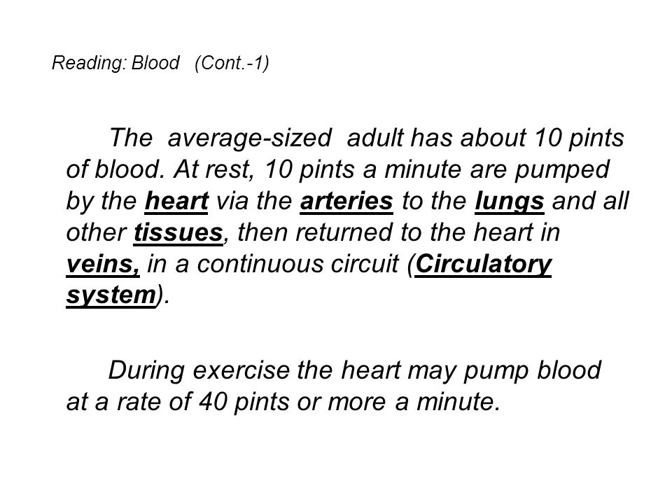 Reading: Blood (Cont.-1)