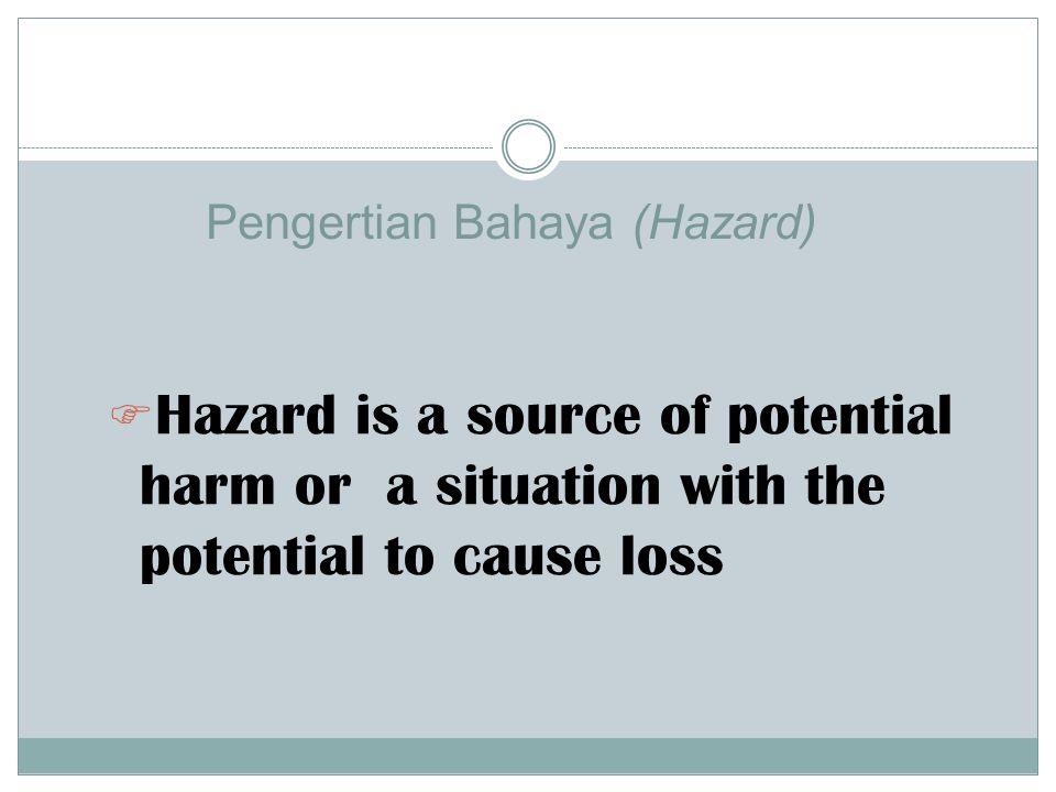 Pengertian Bahaya (Hazard)