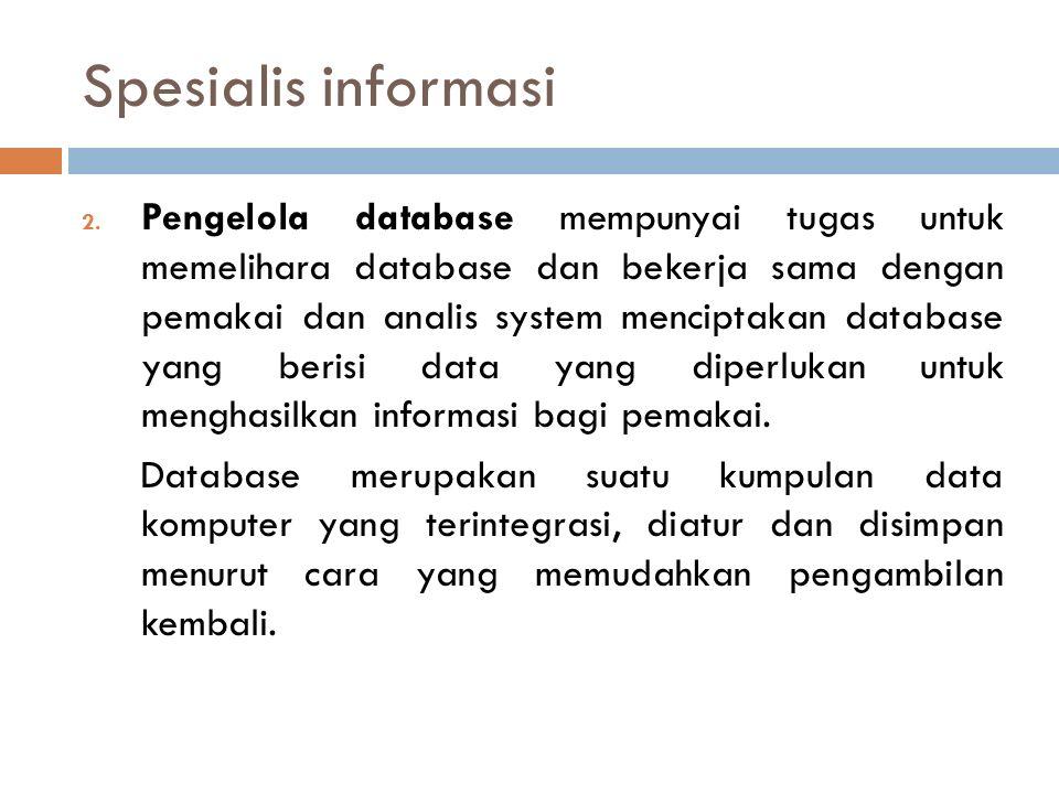 Spesialis informasi