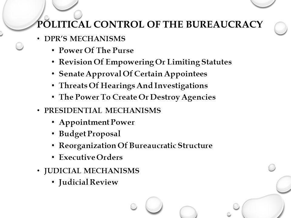 Political Control of the Bureaucracy