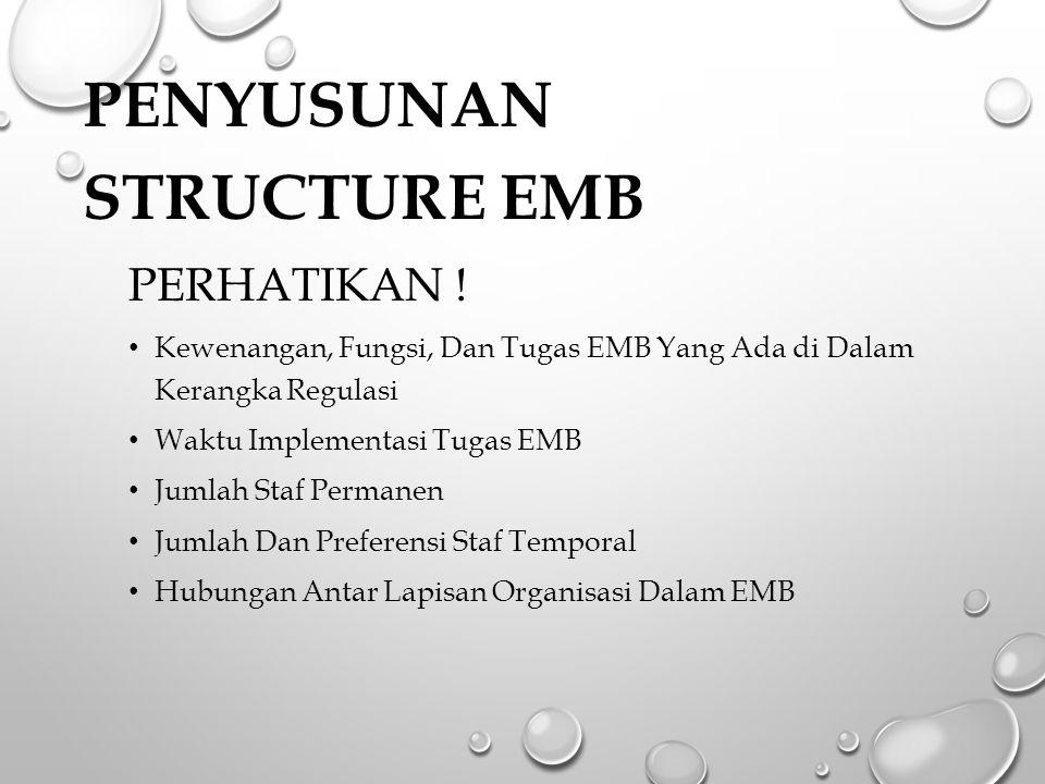 PENYUSUNAN Structure EMB