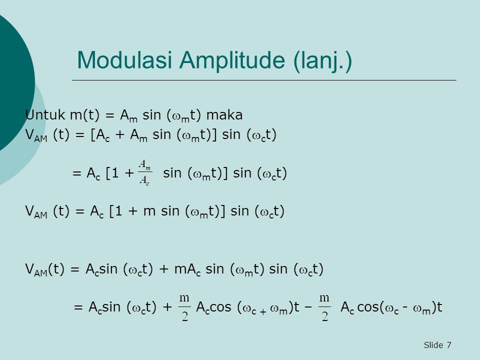 Modulasi Amplitude (lanj.)