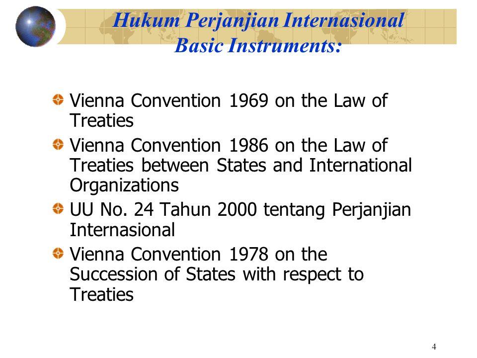 Hukum Perjanjian Internasional Basic Instruments: