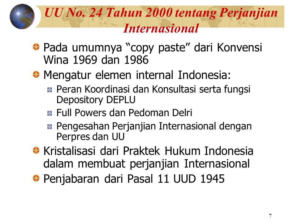 UU No. 24 Tahun 2000 tentang Perjanjian Internasional