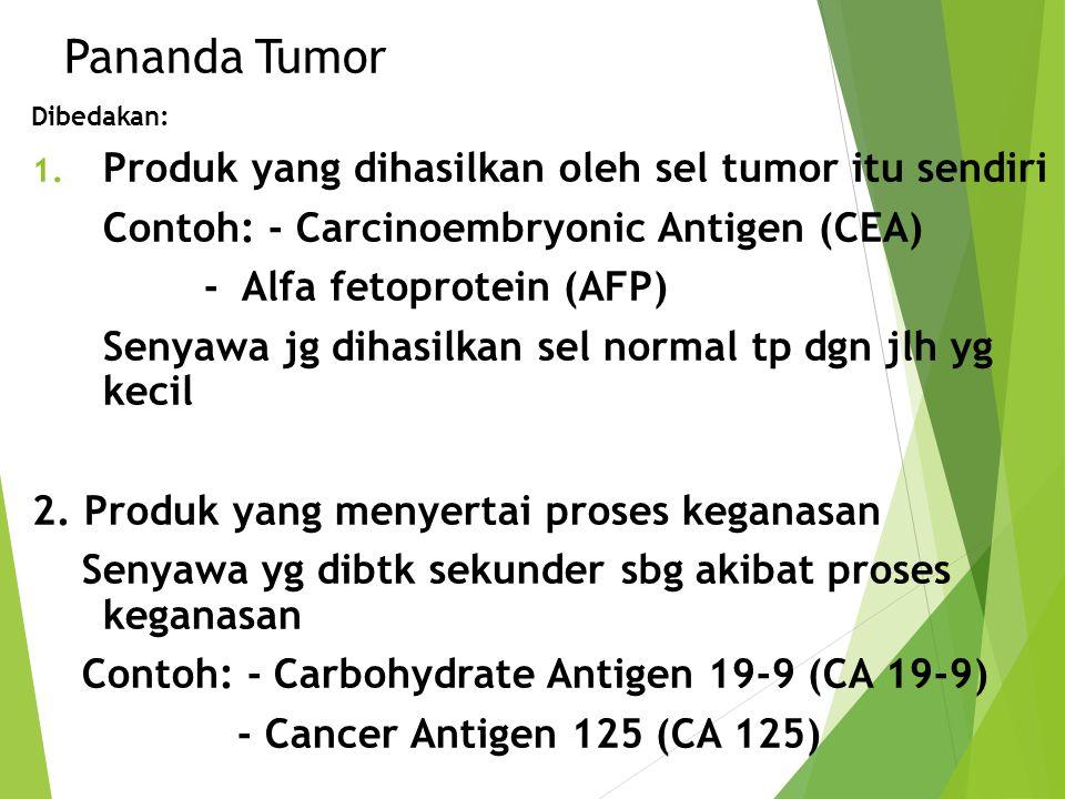 Pananda Tumor Produk yang dihasilkan oleh sel tumor itu sendiri
