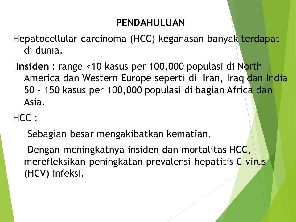 PENDAHULUAN Hepatocellular carcinoma (HCC) keganasan banyak terdapat di dunia.