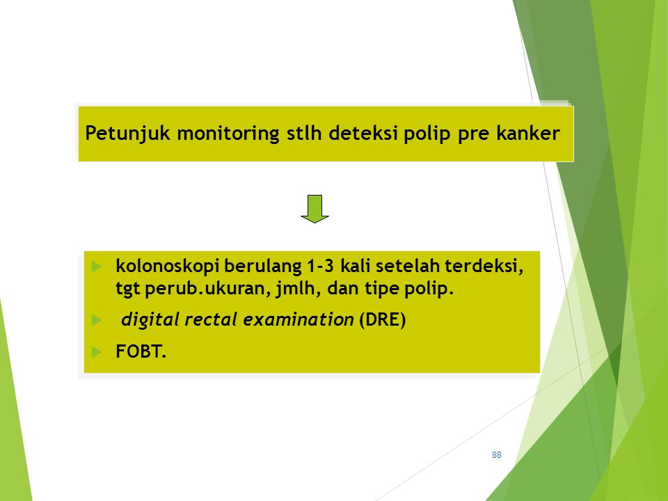 Petunjuk monitoring stlh deteksi polip pre kanker