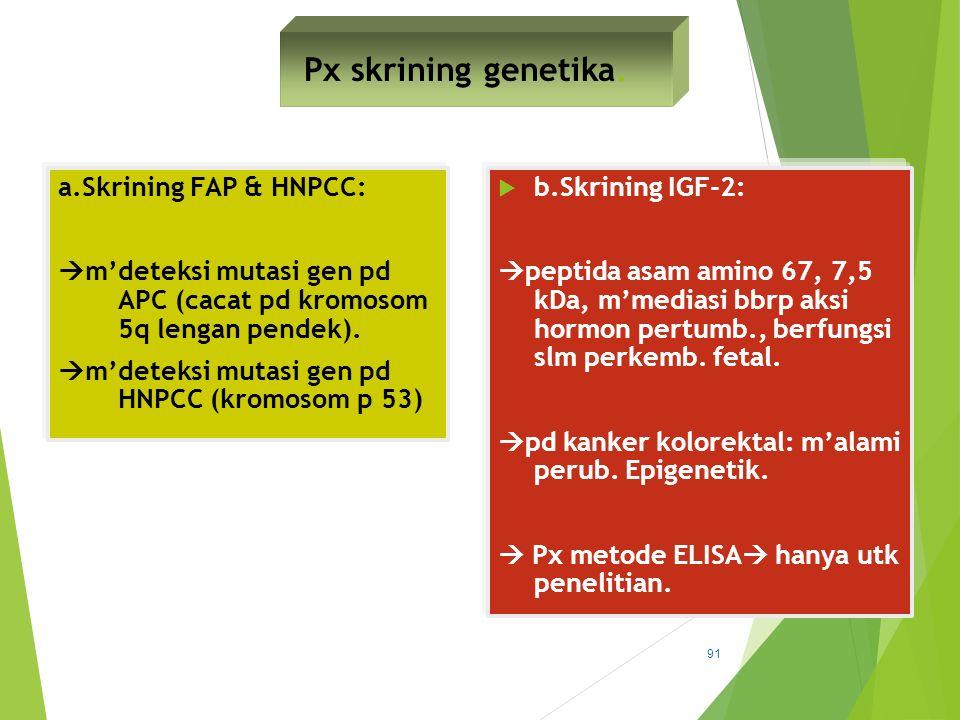 Px skrining genetika.
