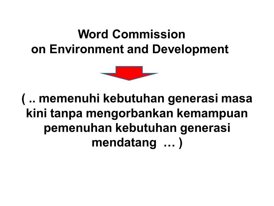 on Environment and Development