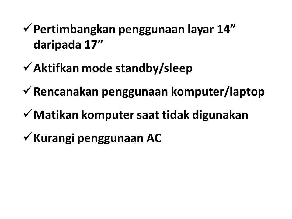 Pertimbangkan penggunaan layar 14 daripada 17