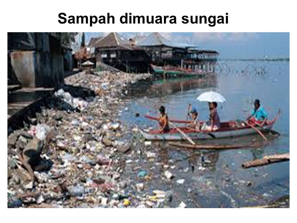 Sampah dimuara sungai