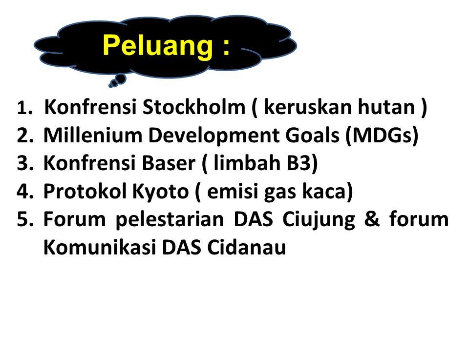 Millenium Development Goals (MDGs) Konfrensi Baser ( limbah B3)