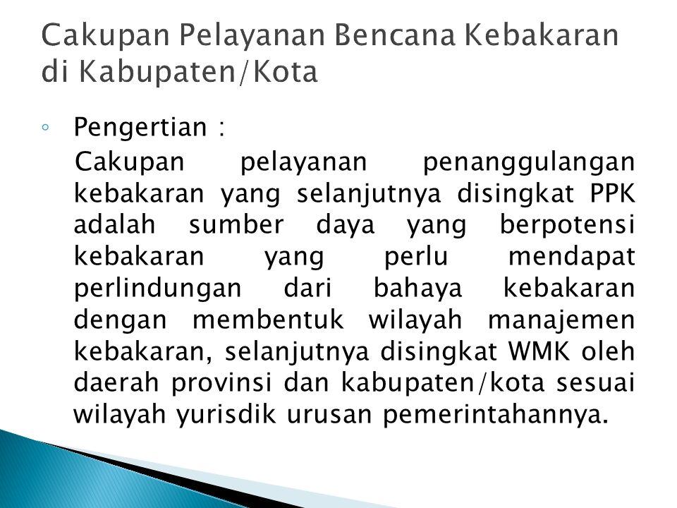 Cakupan Pelayanan Bencana Kebakaran di Kabupaten/Kota