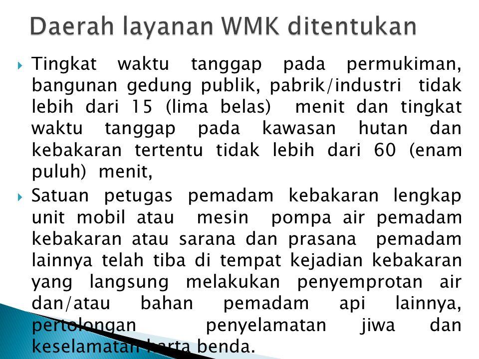 Daerah layanan WMK ditentukan
