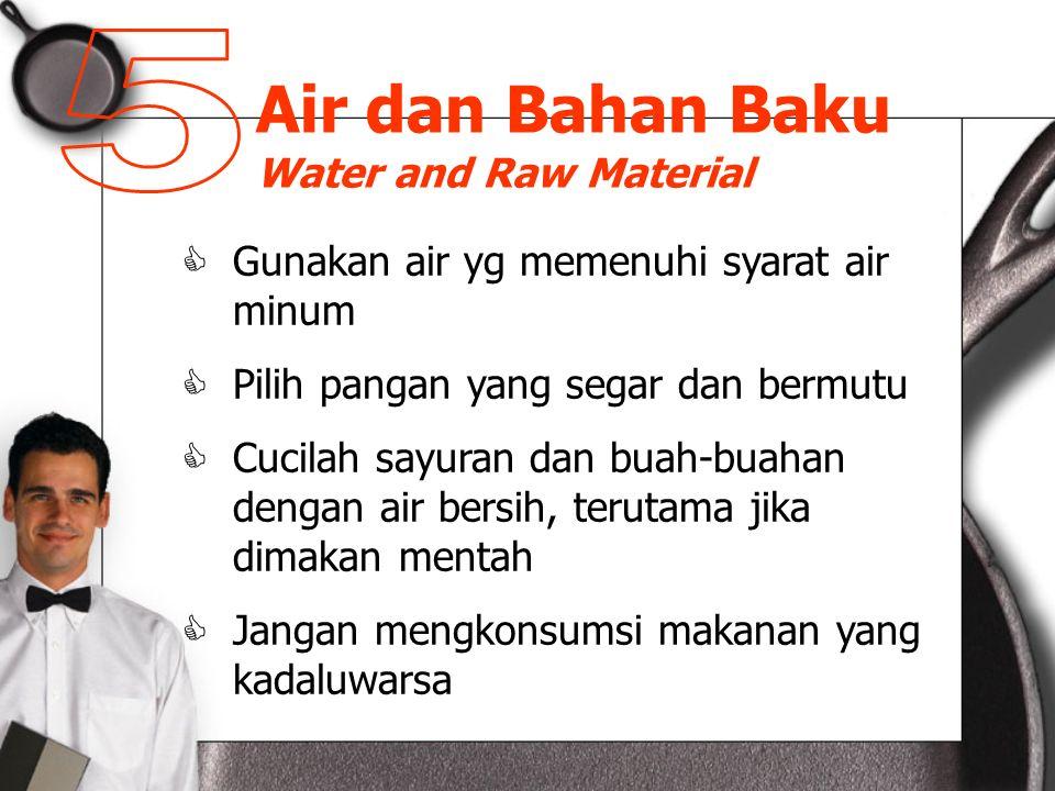 Air dan Bahan Baku Water and Raw Material