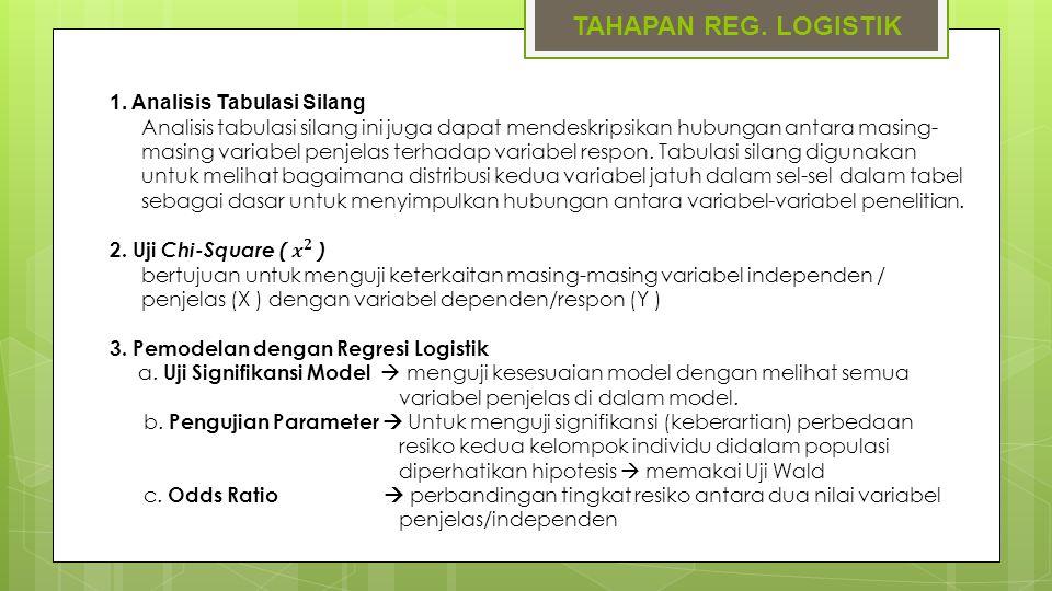 TAHAPAN REG. LOGISTIK 1. Analisis Tabulasi Silang