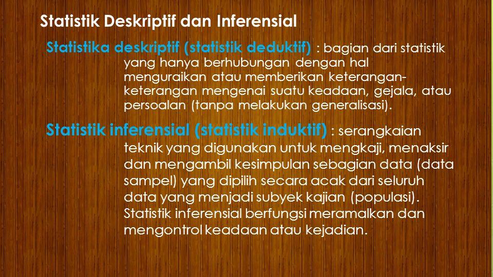 Statistik Deskriptif dan Inferensial