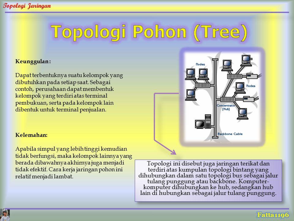 Topologi Pohon (Tree) Keunggulan :