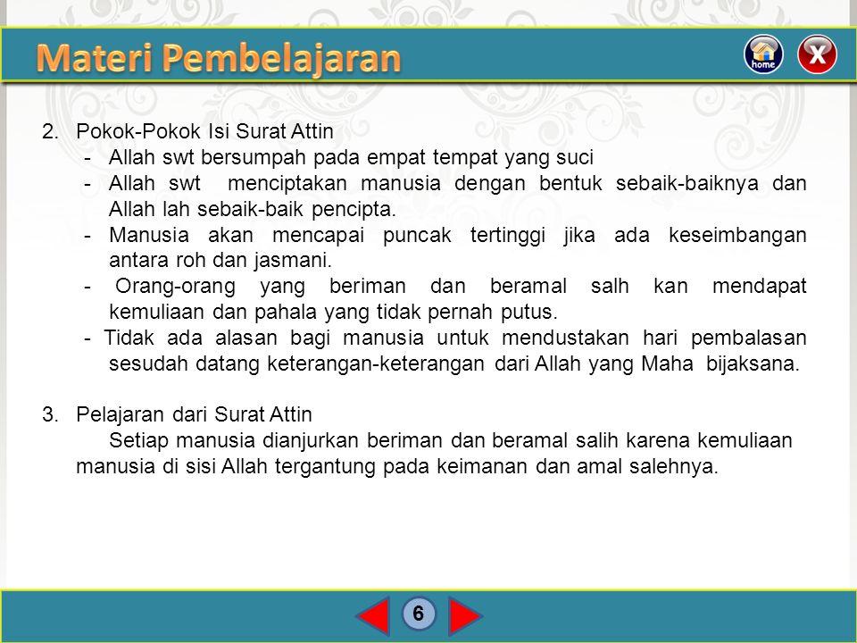 Materi Pembelajaran 2. Pokok-Pokok Isi Surat Attin