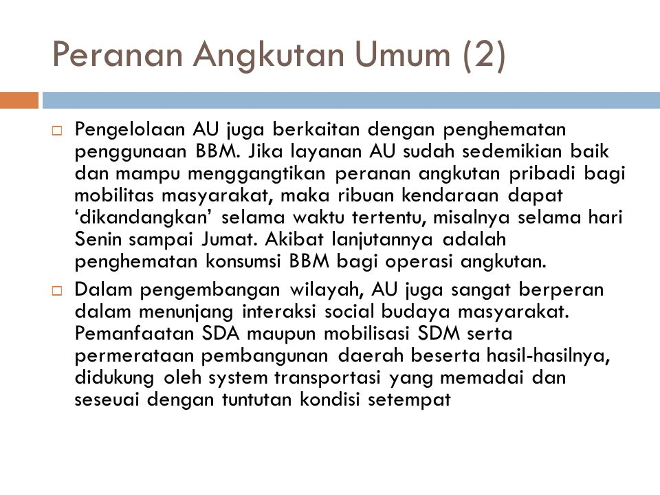 Peranan Angkutan Umum (2)