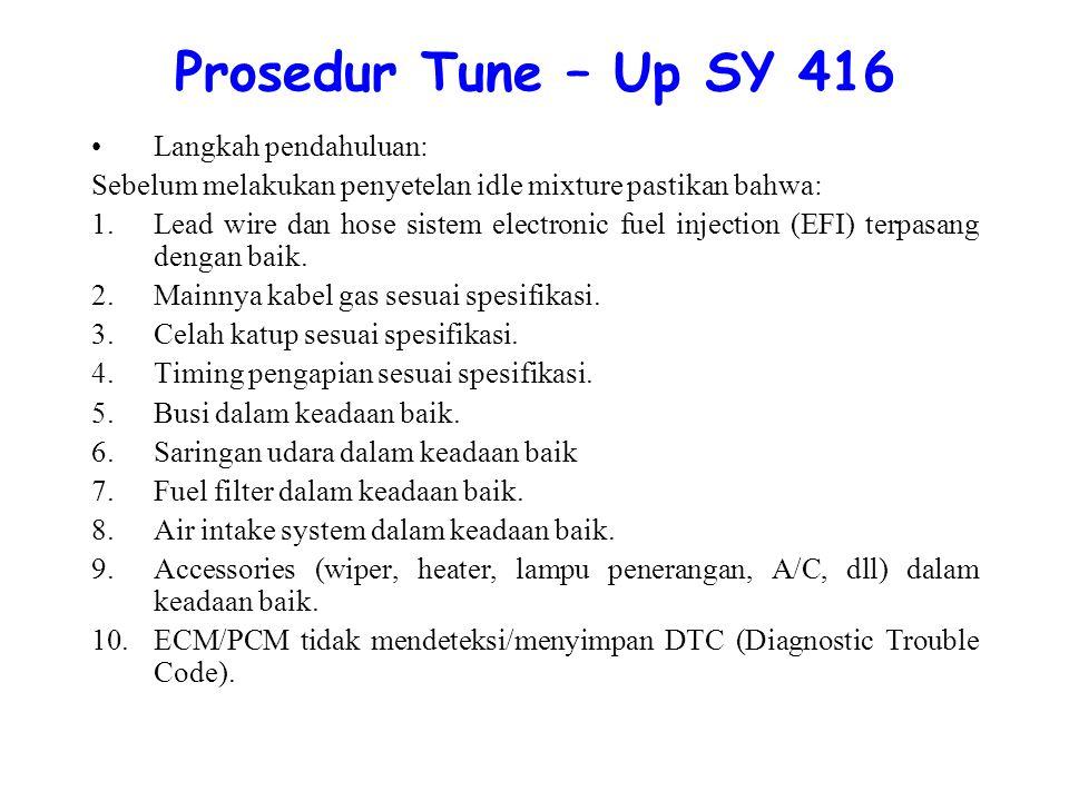 Prosedur Tune – Up SY 416 Langkah pendahuluan: